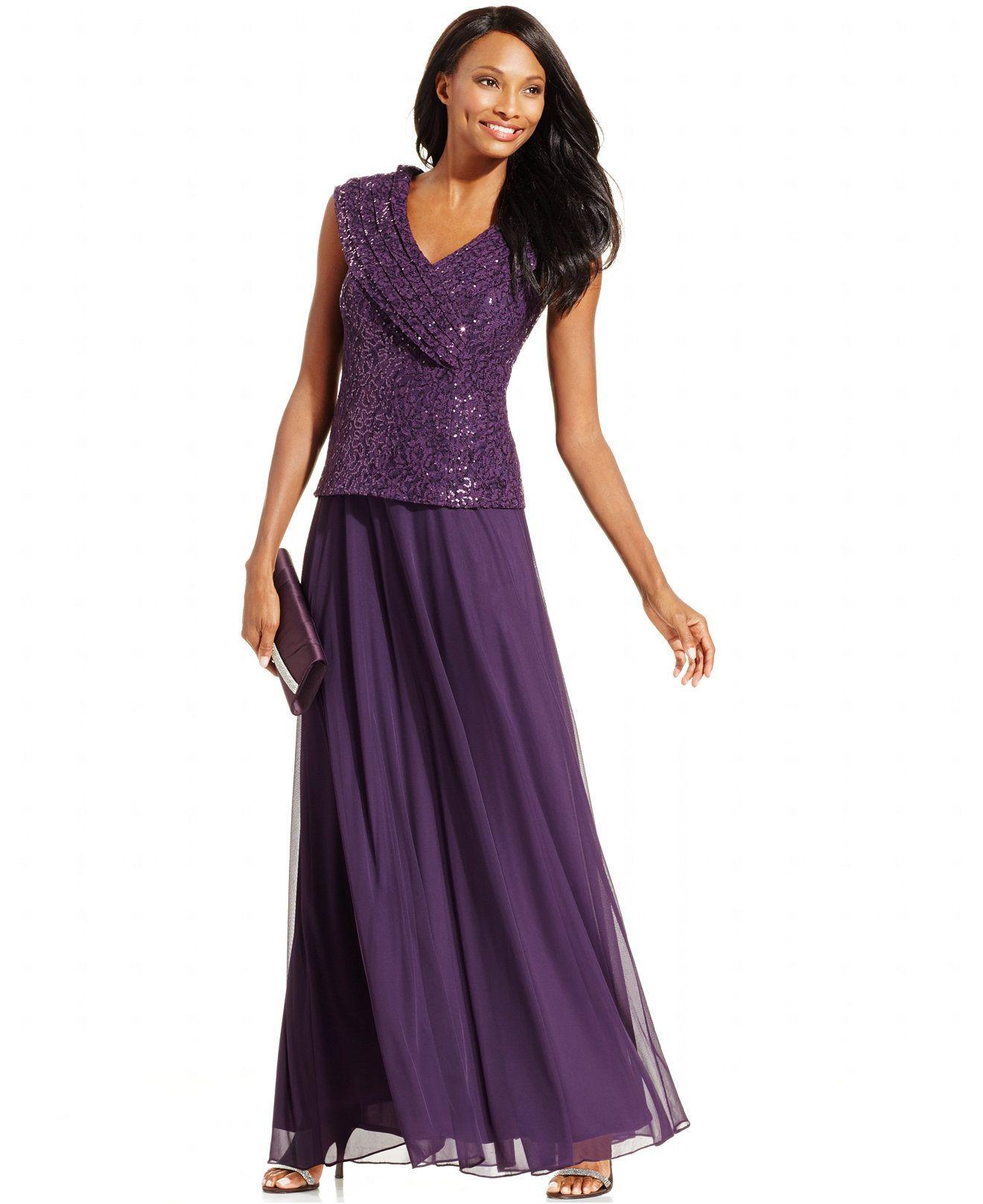 Patra Women/'s Sleeveless Sequin Lace Popover V-Neck Chiffon Dress