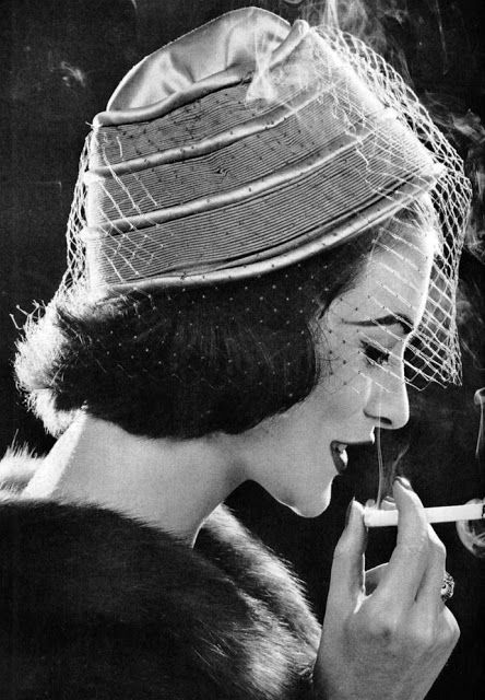Glamour Women s Hat Styles in the 1950s  bcb89230808