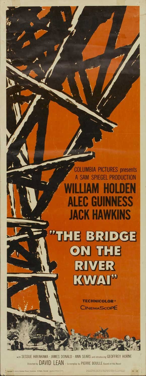Bridge On The River Kwai 14x36 Movie Poster 1957 Movie Posters Classic Movie Posters David Lean