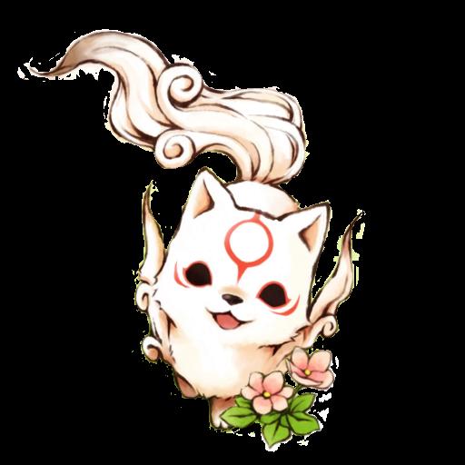 Chibi Okami Amaterasu Icon by