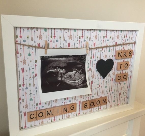 Pregnancy Annoucement Photo Prop Display Frame For Your Scan
