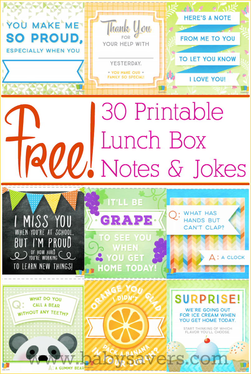 30 free printable lunch box notes and jokes love this easy idea to surprise kids and remind them that theyre special