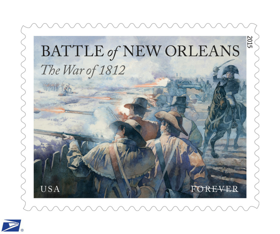 The Battle of New Orleans Forever® stamp is now available