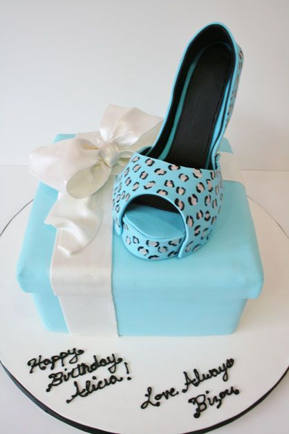 Birthday Cakes New Jersey Sugar Shoe and Gift Box Custom Cakes I