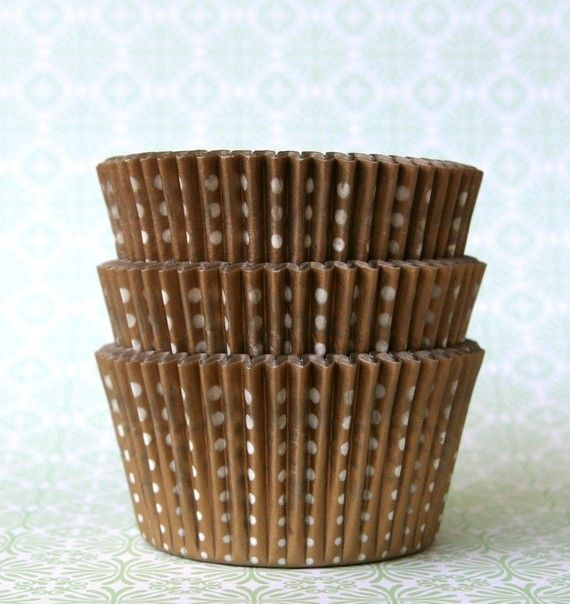 Gold Little Dot Cupcake Liners 45 By Sweetestelle On Etsy 3 25