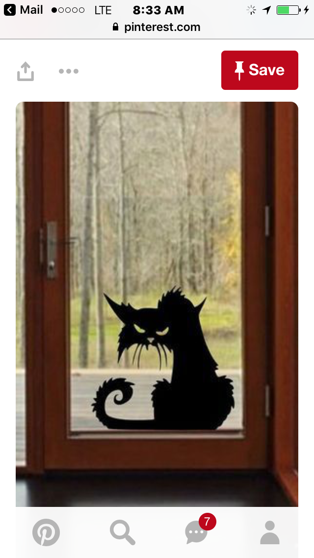 Chat #halloweendoordecor