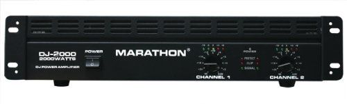 Marathon Dj-2000 Dj Series Power Amplifier 250w@8 Ohms - 500w@4 Ohms - Up To 2000w@8ohm Bridge by Marathon. $169.99. Marathon DJ-2000. Great for professional DJ & entertainers who demands power on a limited budget. Every DJ Series amplifier provides excellent performance for all the speakers. Reliable features such as Input Gain, Ground Lift Switch to eliminate hum, Power LEDs, Channel 1 & 2 level, LED's indicator, Stereo, parallel mono and bridge modes, Clip indicator and...