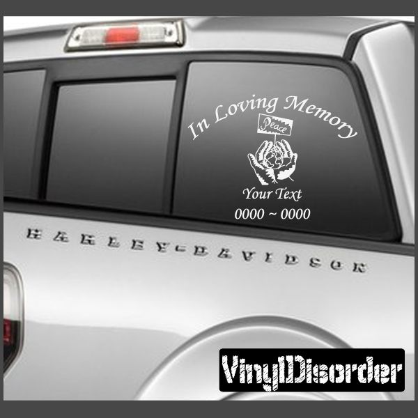 angels 3 In Loving Memory Custom Car or Wall Vinyl Decal Stickers