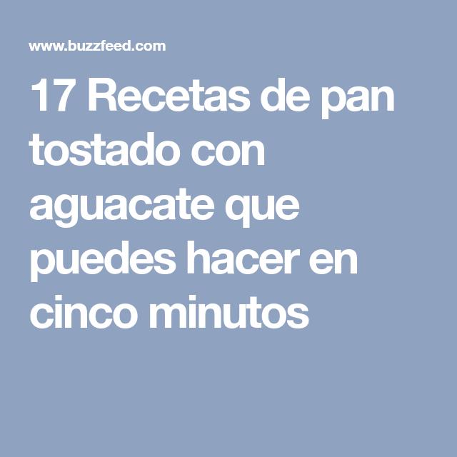 17 Recetas de pan tostado con aguacate que puedes hacer en cinco minutos