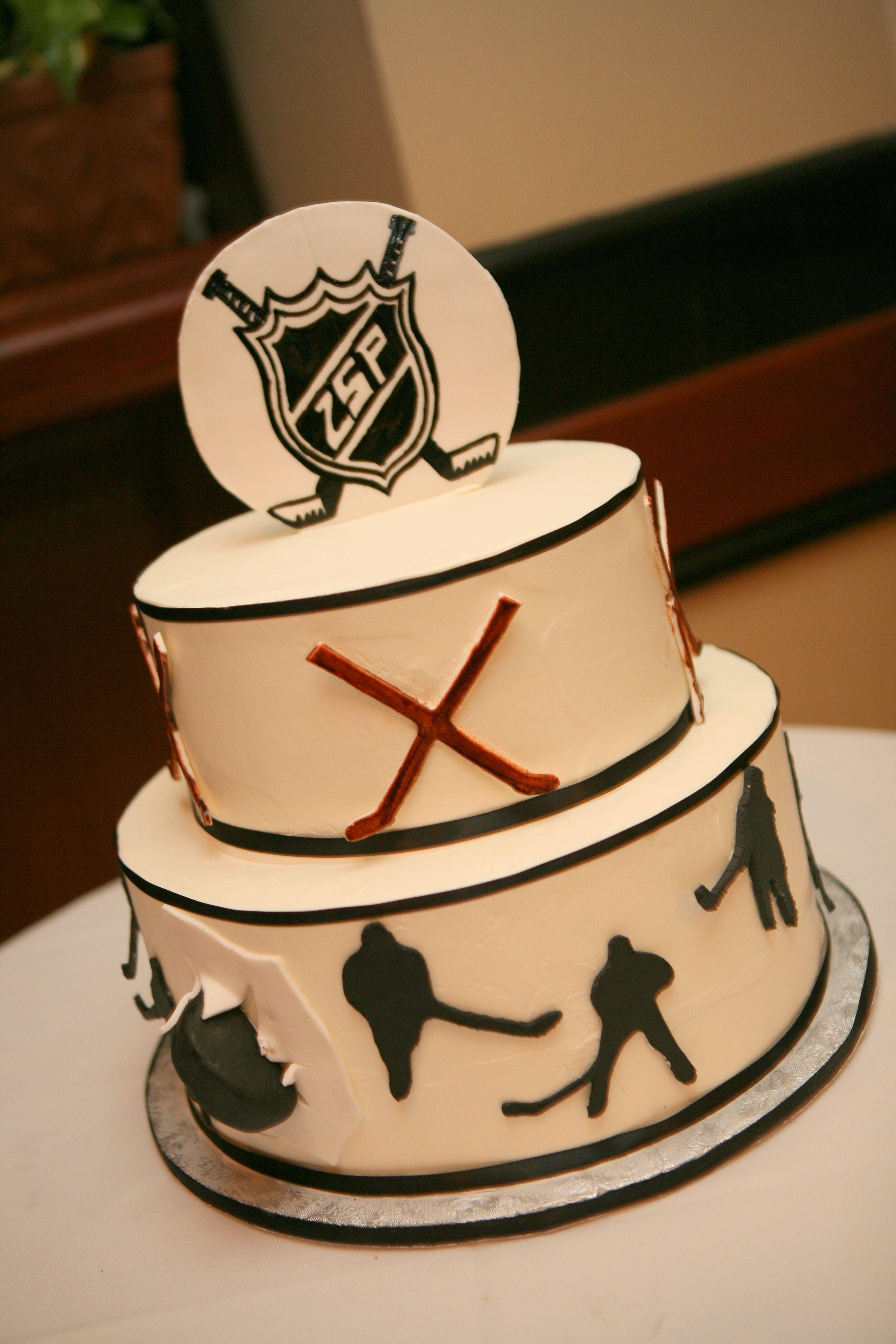 Awe Inspiring Hockey Cake Hockey Birthday Cake Hockey Cakes Boy Birthday Cake Funny Birthday Cards Online Benoljebrpdamsfinfo
