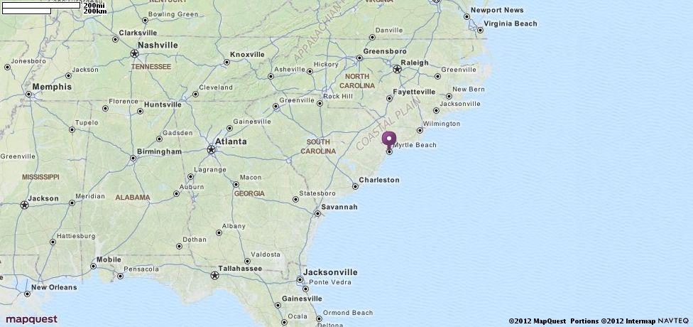 Myrtle Beach Sc Map Mapquest Myrtle Beach Map Myrtle Beach City North