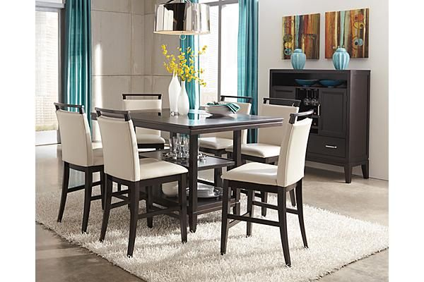 The Trishelle Counter Height Dining Room Table From Ashley Furniture H Contemporary Dining Room Furniture Counter Height Dining Room Tables Dining Room Remodel