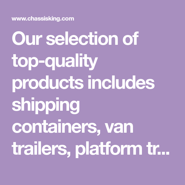 Our selection of top-quality products includes shipping
