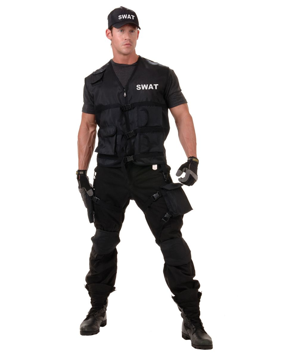swat men command on halloween when you don this swat officer kit adult mens - Good Guys Halloween Costumes