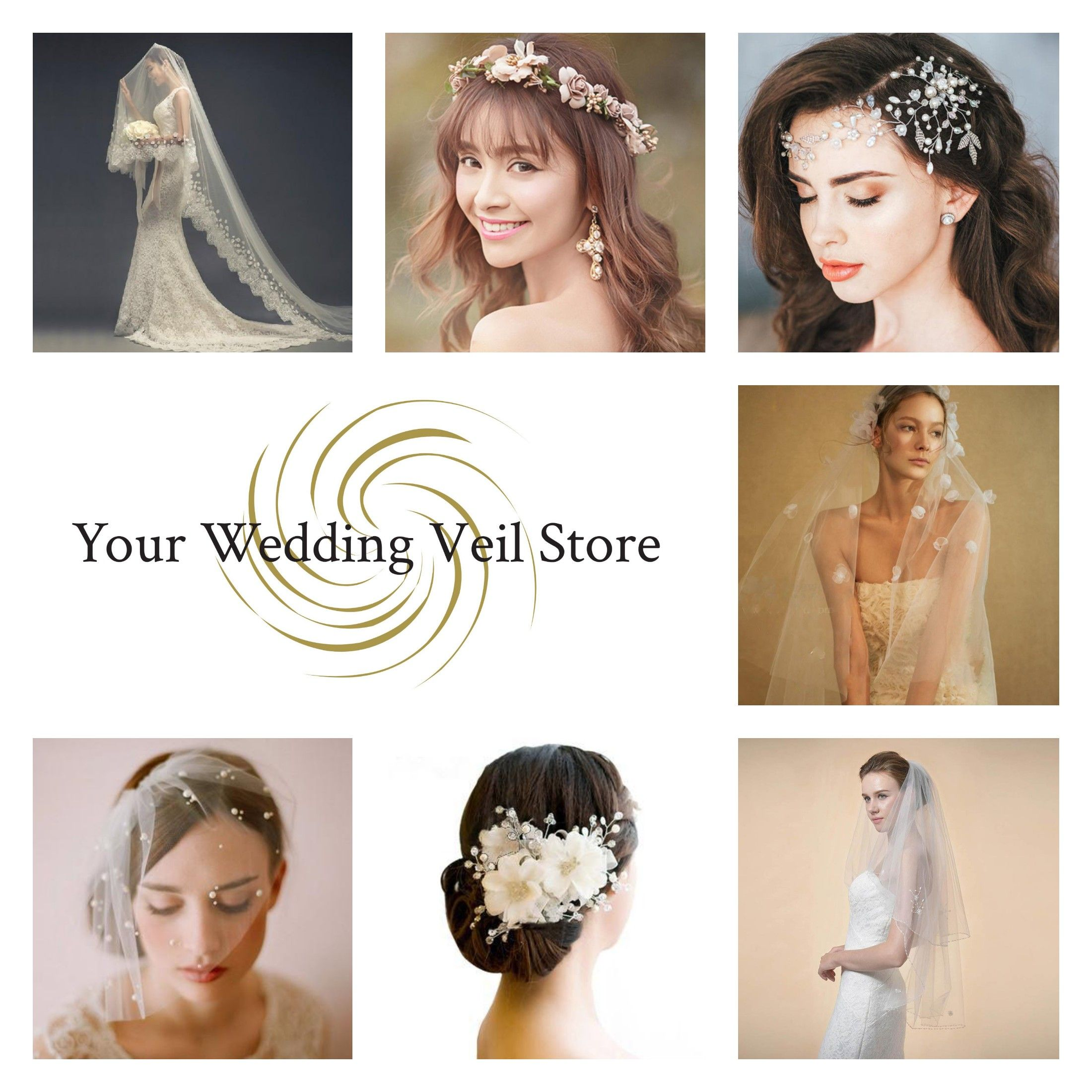 a designer curated selection of fine wedding veils and hair