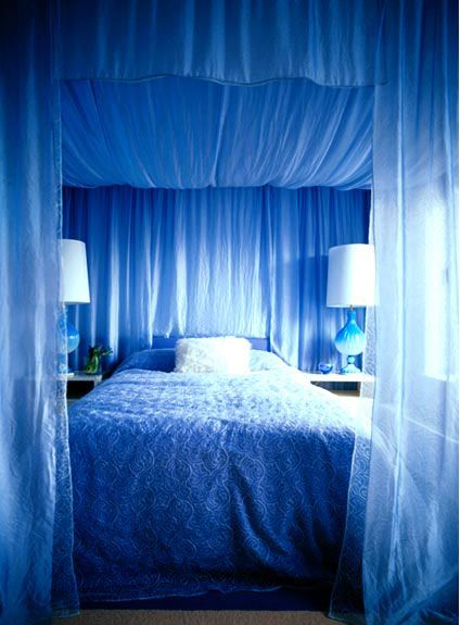 Color A Room With Fabric Panels Home Bedroom Canopy Bed