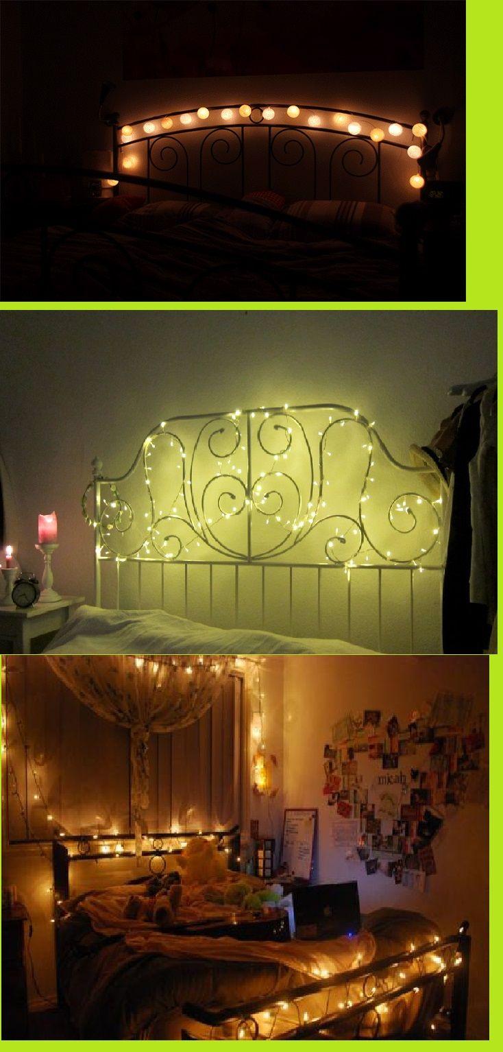Ich möchte auch mal eine Lichterkette über dem Bett haben :) Mit ...