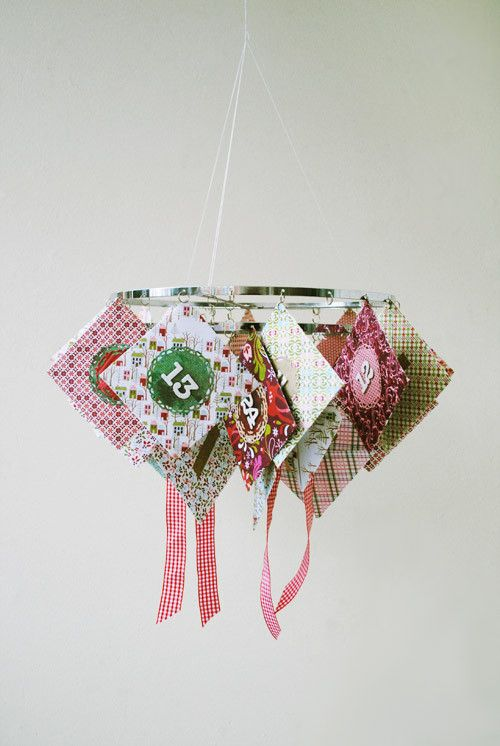 Hanging chandelier Christmas Advent Calendar by Anski