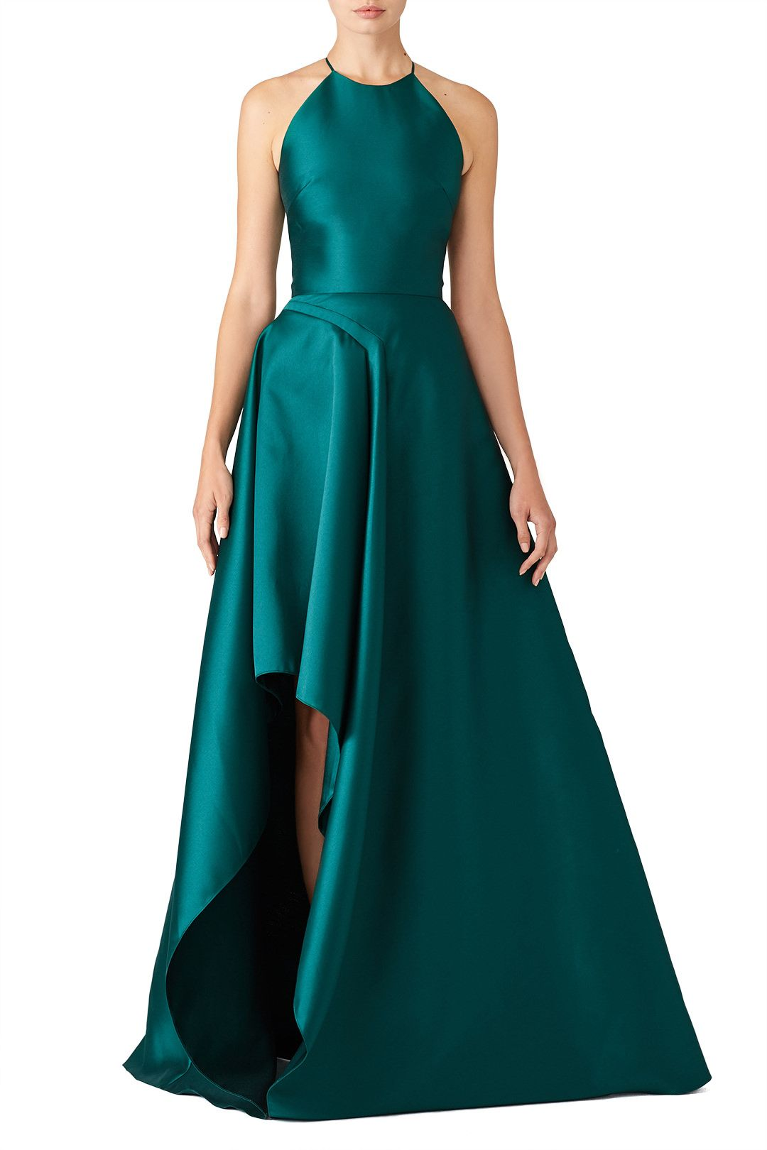 d018d77435 Rent Teal Sculptural Gown by Badgley Mischka for $100 only at Rent ...