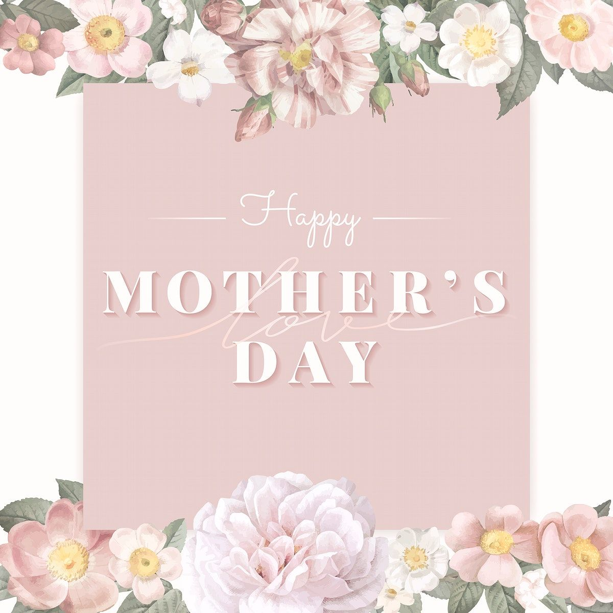 Download Premium Vector Of Floral Elegant Mother S Day Card Vector In 2020 Mothers Day Poster Flower Illustration Happy Mothers Day