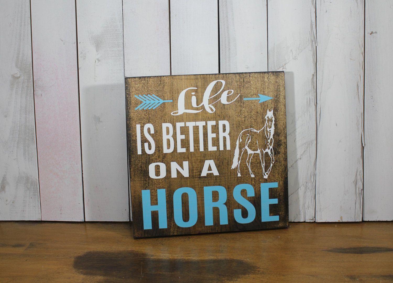 Still Time Christmas LIFE Is Better On A HORSE Sign/Farm Art/Farm Sign