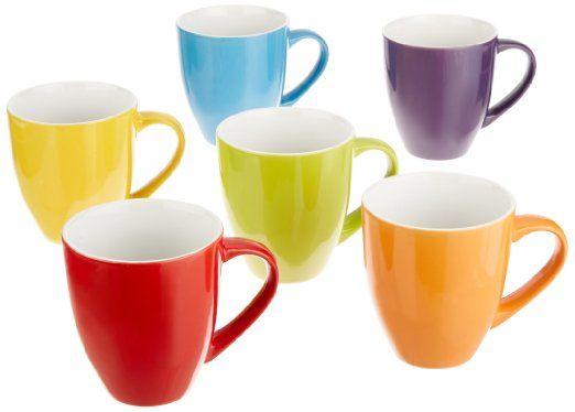 Francois Et Mimi 16 Ounce Ceramic Coffee Mugs Large