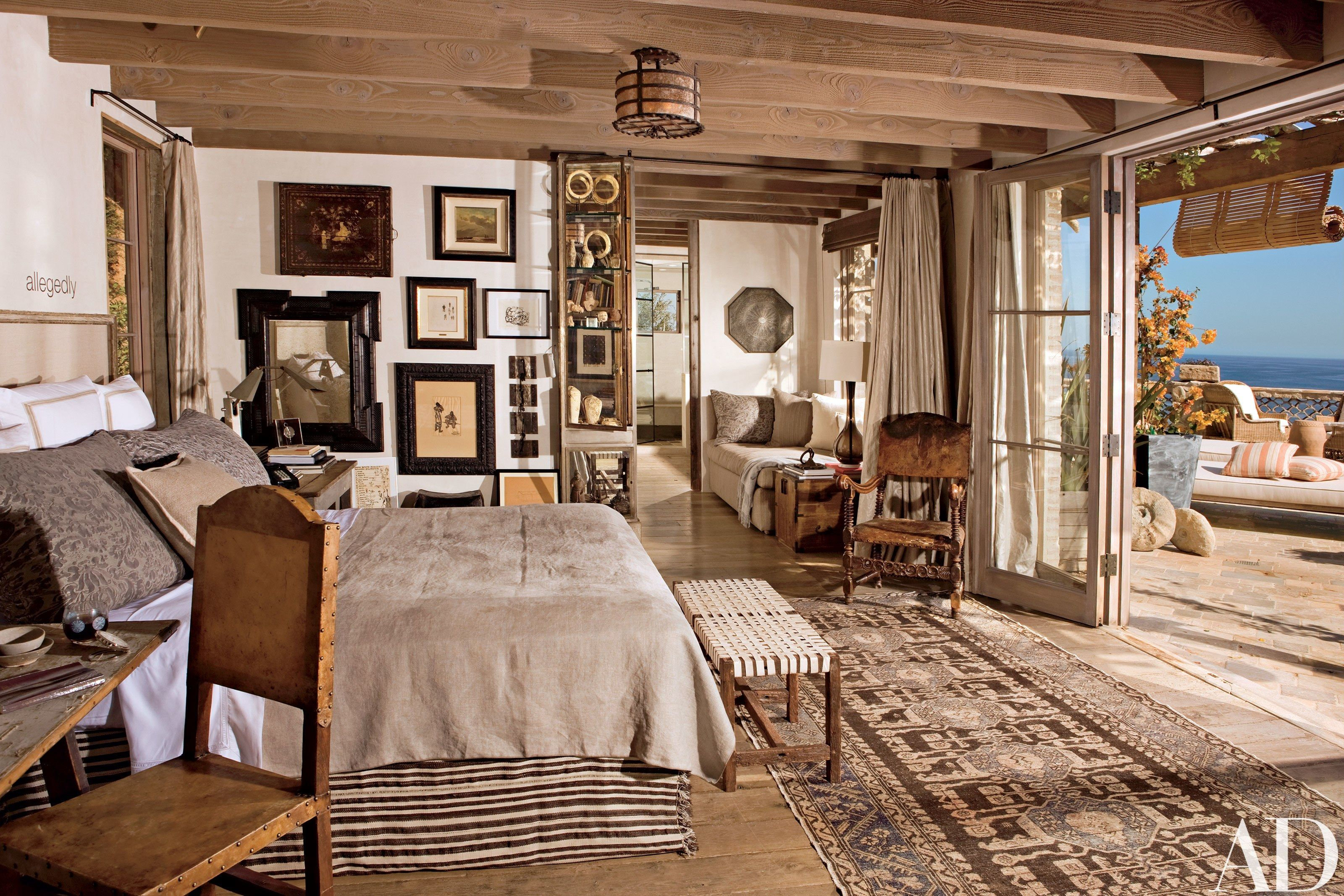 A Home On The Coast Of Malibu Becomes An Unforgettable Retreat Rustic Master Bedroom Rustic Bedroom Design Rustic Bedroom Decor