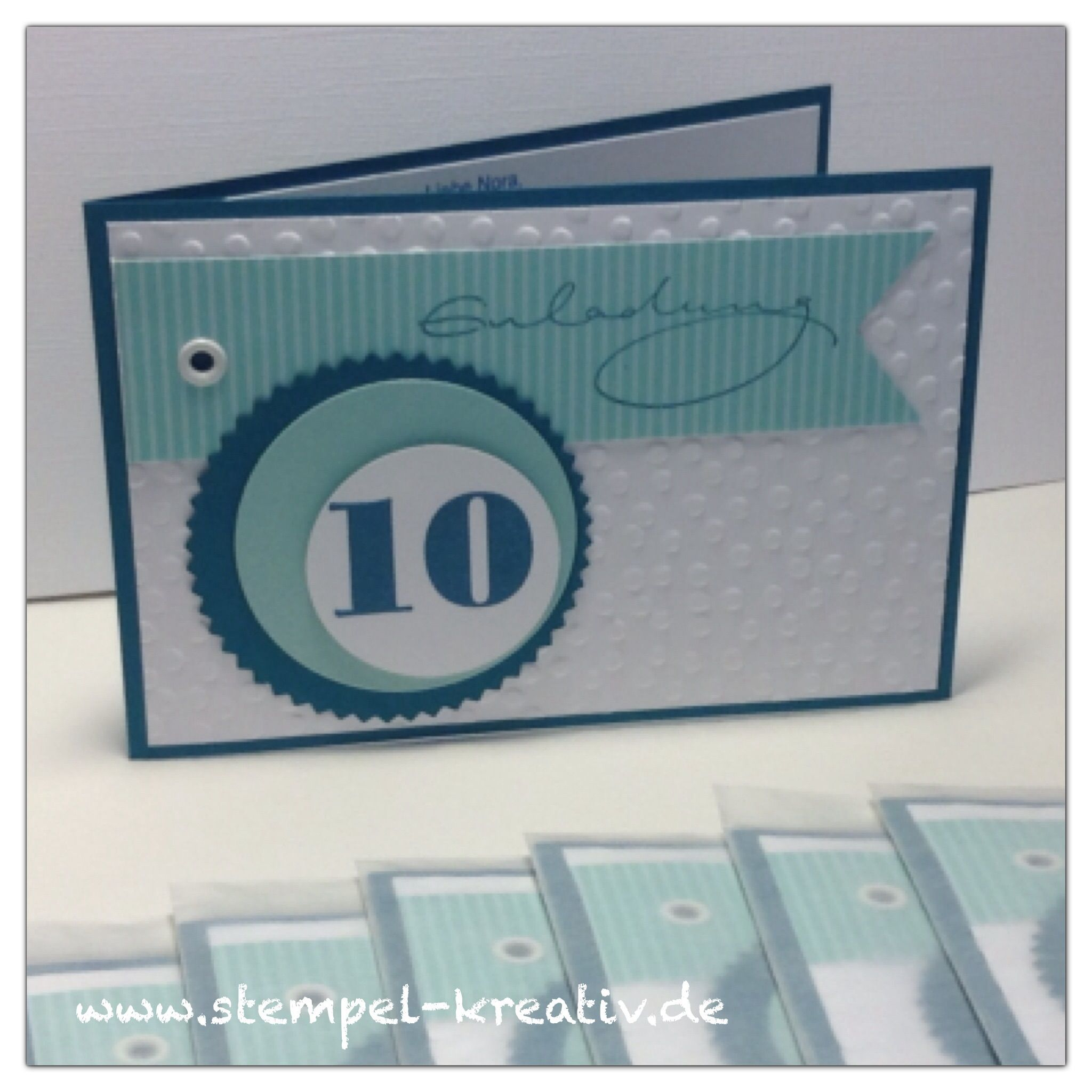 Einladungskarten Zum 10. Geburtstag / Kindergeburtstag (Stempel Von Stampin  Up Und Alexandra Renke)