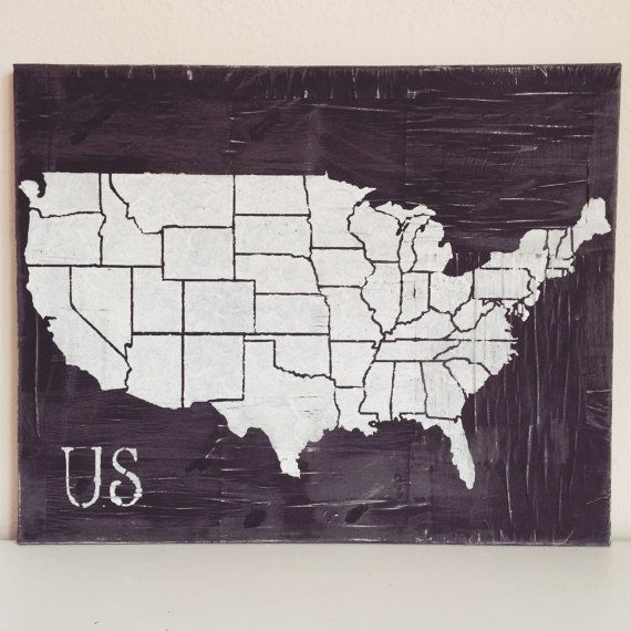 Distressed US Map By Kaitoo On Etsy Wall Décor United States - Us map wall decor