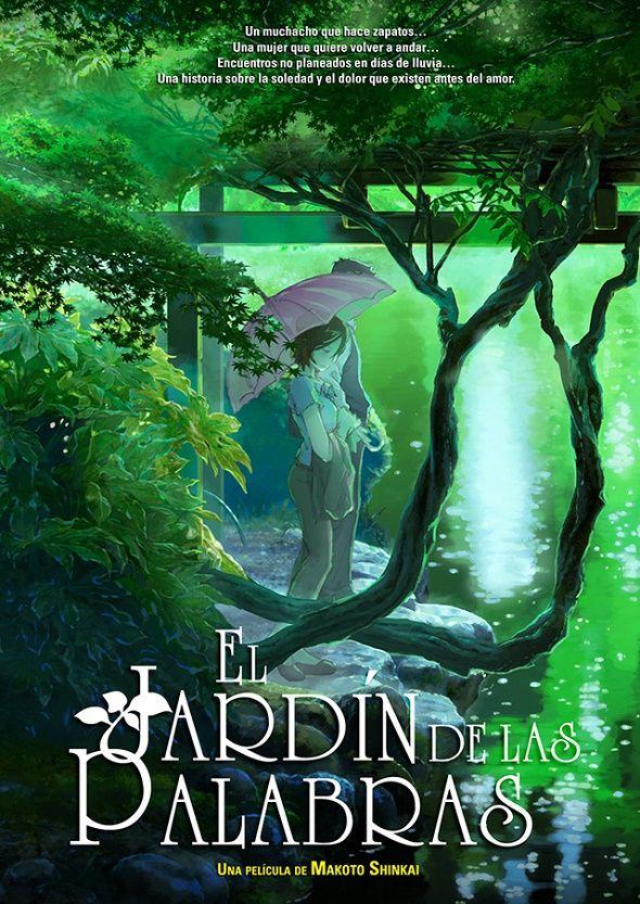 El Jardin De Las Palabras De Makoto Shinkai Noche De Cine Jardin De Las Palabras Peliculas De Animacion Peliculas Japonesas Anime