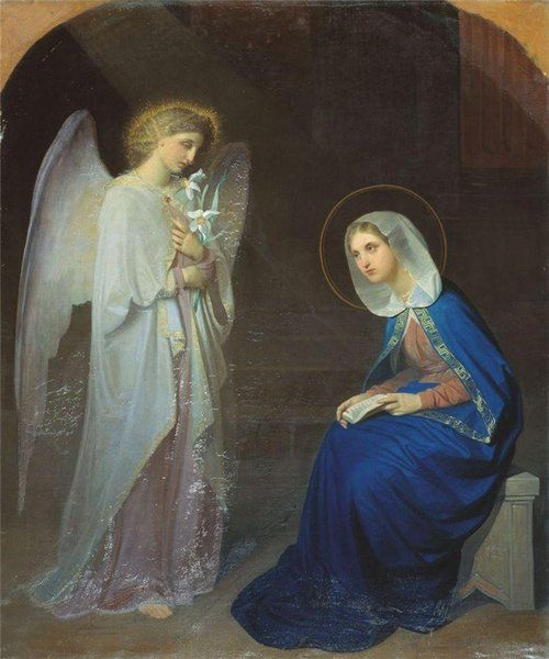 Mary Announcement By The Angel Gabriel To The Virgin Mary That She