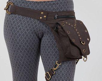 Festival Utility Belt With Leg Strap Burning Man Holster Pocket Bag Thigh