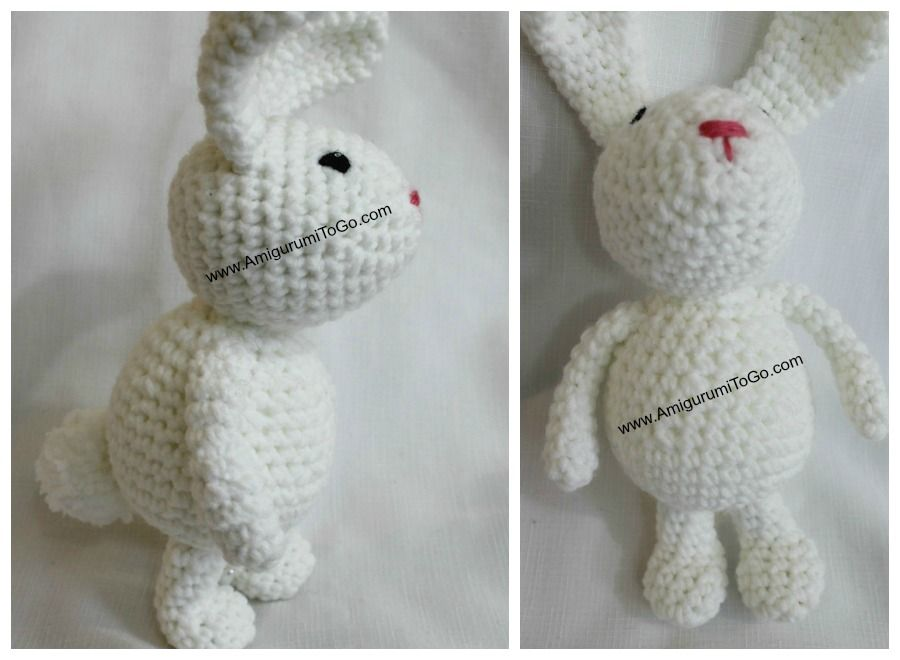 Free Amigurumi Pattern Baby Love : Meet the winter bunny! i love this one so much i think she's