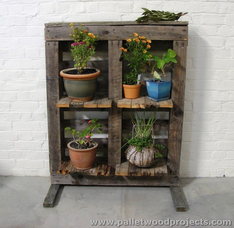 Plant Stands Made Out Of Pallets