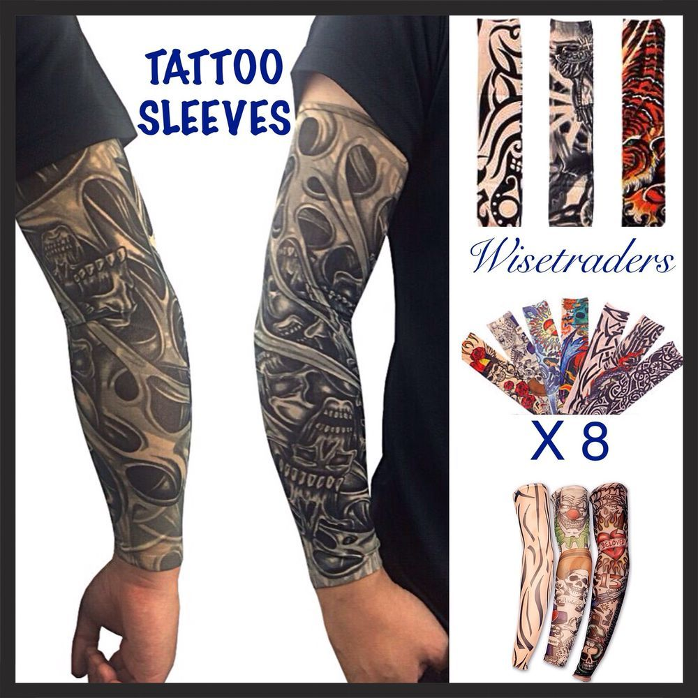 8 x temporary sleeves fancy dress arm