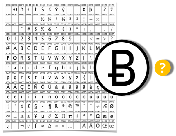 bitcoin simbolis unicode