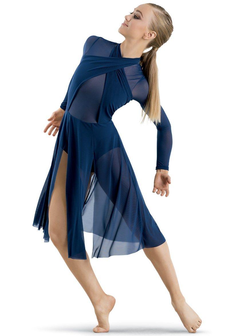b04b1b009ae8 Mesh Halter Wrap Midi Dress | comp in 2019 | Contemporary dance ...