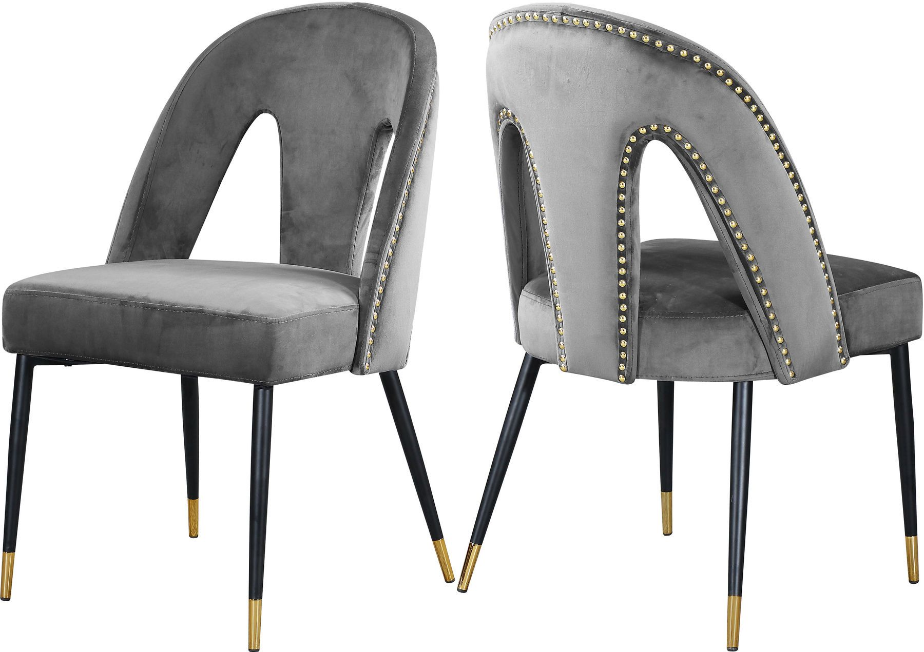 2 X Akoya Gray Dining Chair In 2020 Dining Chairs Contemporary