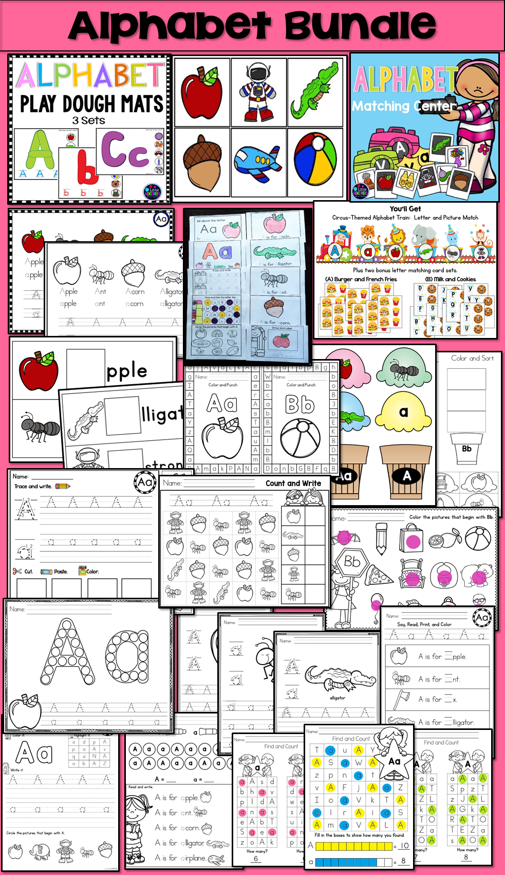 Alphabet Worksheets and Activities | Beginning Sound Worksheets ...