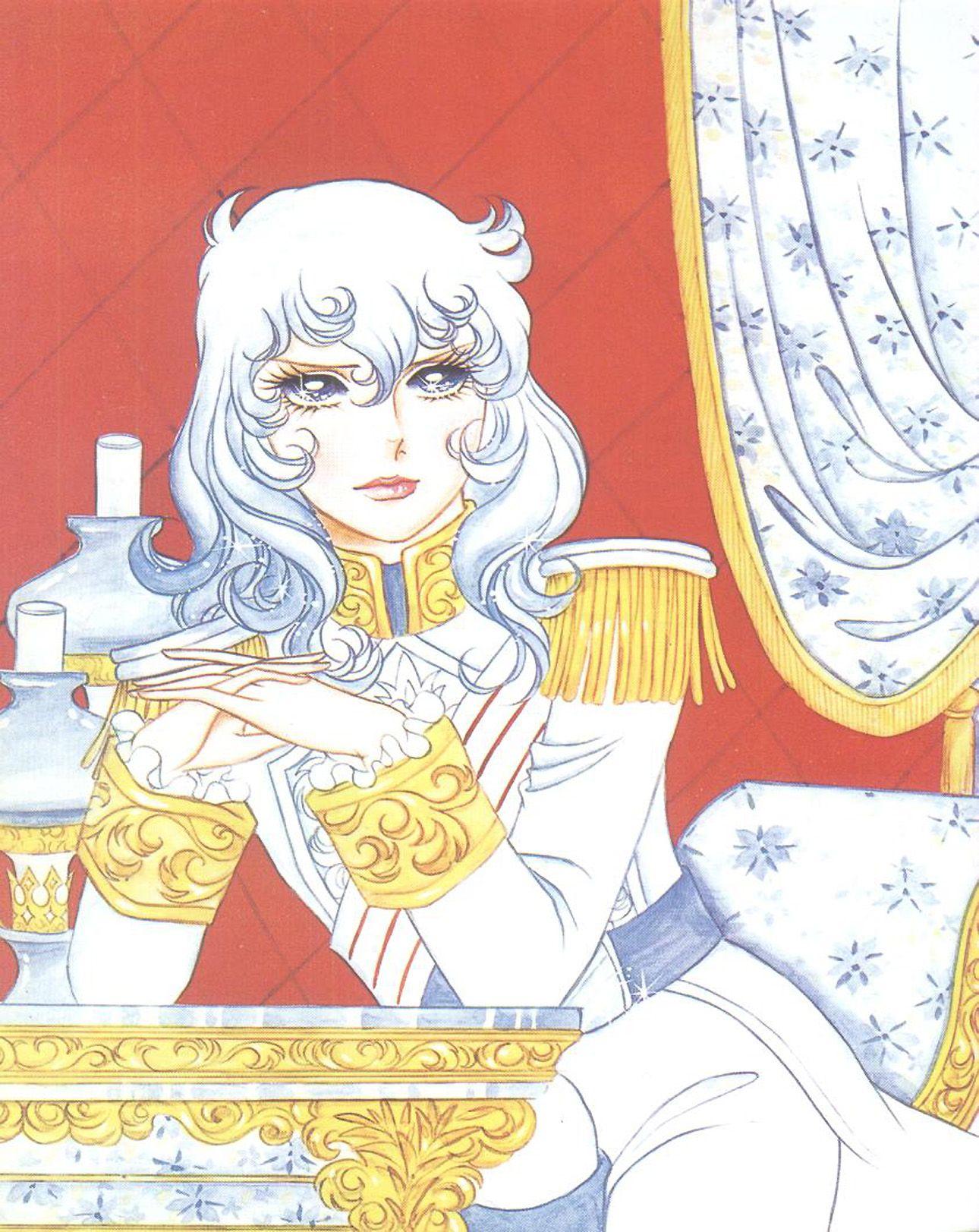 "Art of Lady Oscar from ""Rose Of Versailles"" series by manga artist Riyoko Ikeda."