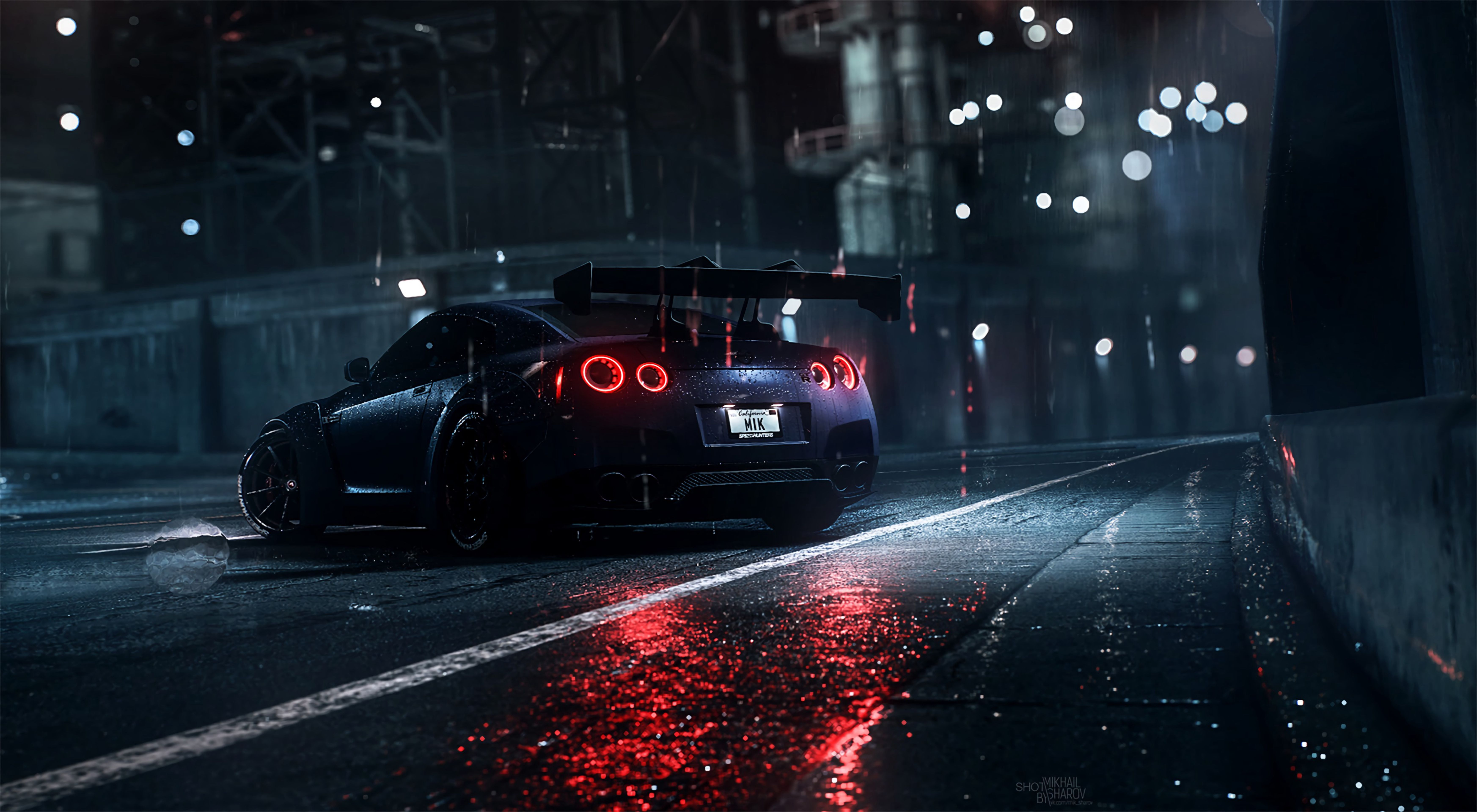 Downaload Nissan Gt R Sportscar Art Wallpaper 6982x3840