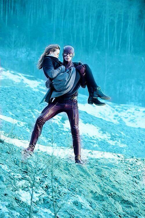 Caitlin Snow and Barry Allen The Flash Snowbarry *__*