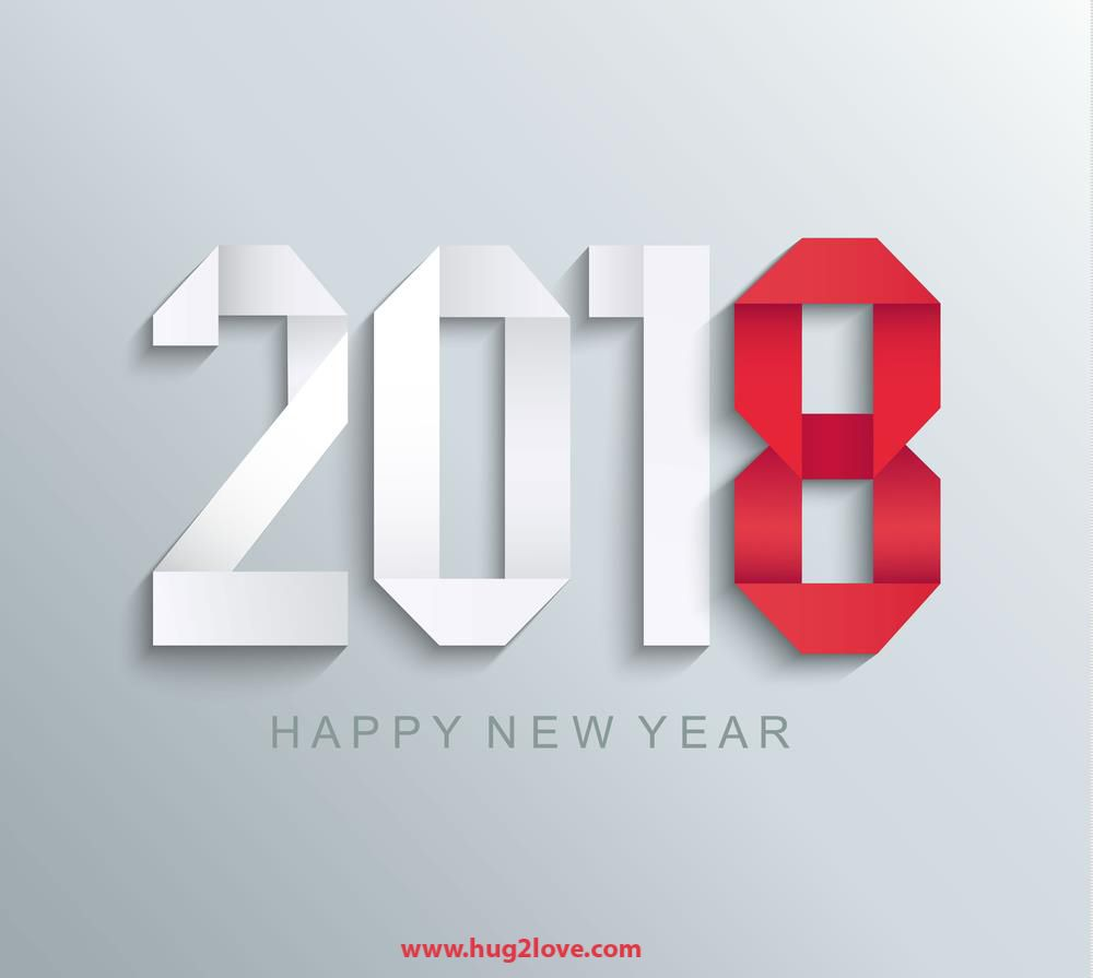 red and white new year 2018 3d wallpaper bg image new year background images happy