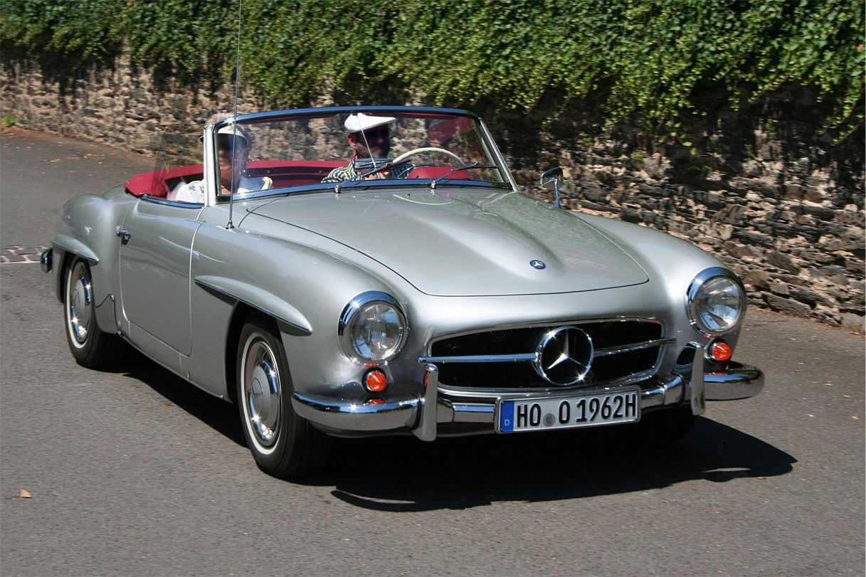 The Mercedes Benz 190sl Was Produced From 1955 To 1963 The