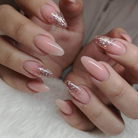Glitter Pink Nail Art Design Ideas For Brides Pink Glitter Nails Pink Nail Art Designs Pink Nail Art