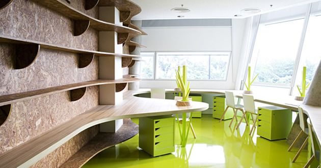 Büro design ideen  büro idee- das büro in grün - fresHouse   Büro-Ideen   Pinterest