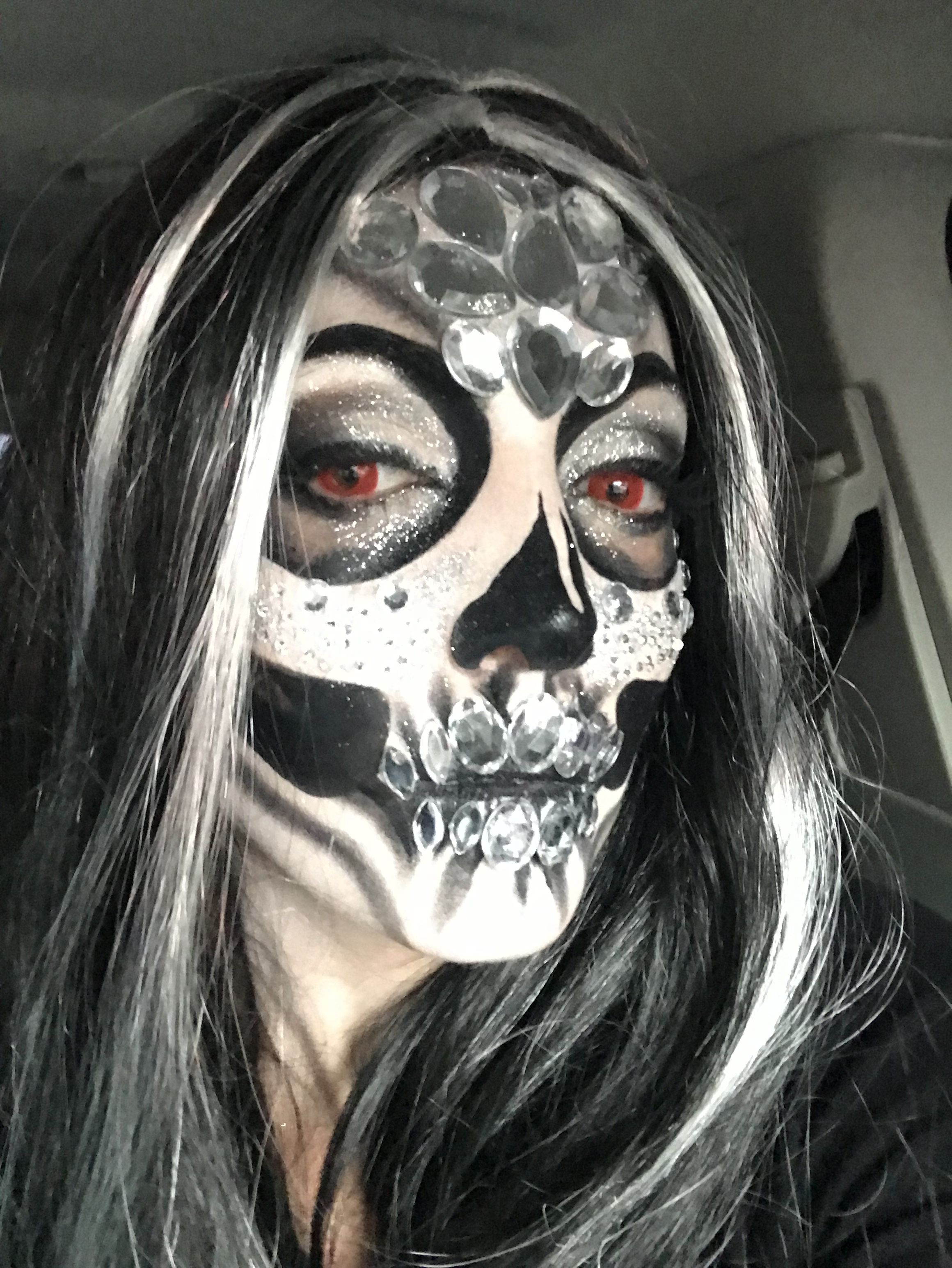#halloween #fashion #skull #glam #glamorous #art #makeup
