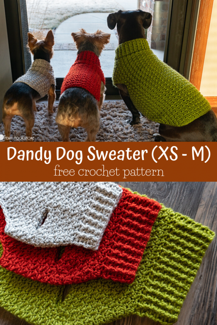 Dandy Dog Sweater: Easy Crochet Dog Sweater Patter
