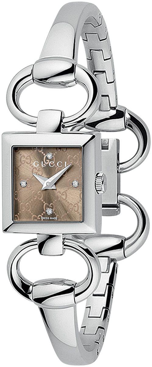 5a384a2ef75 Luxury Watch   Gucci Women s YA120509 Tornabuoni Square Brown Dial Watch