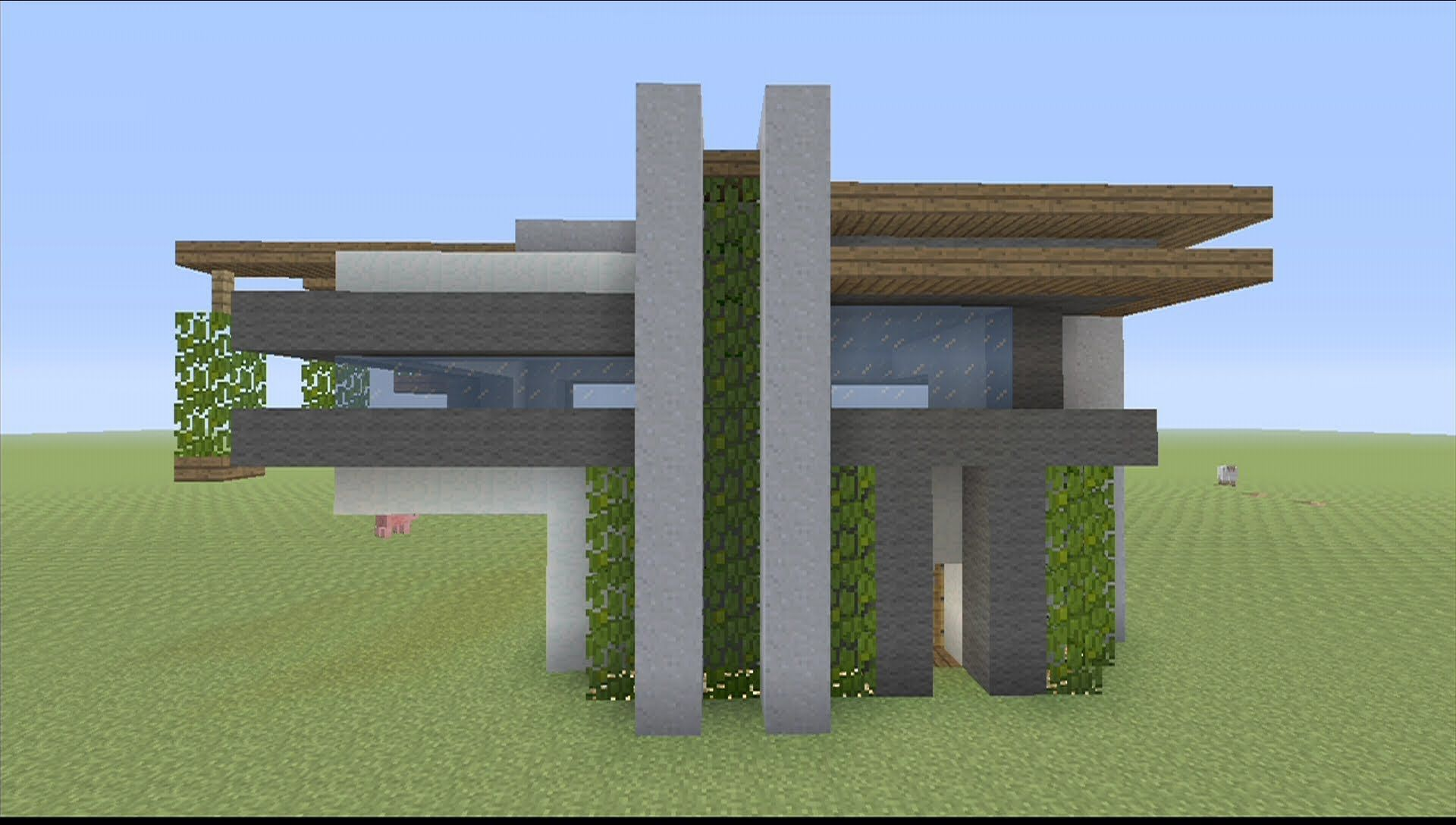 how to build modern house minecraft